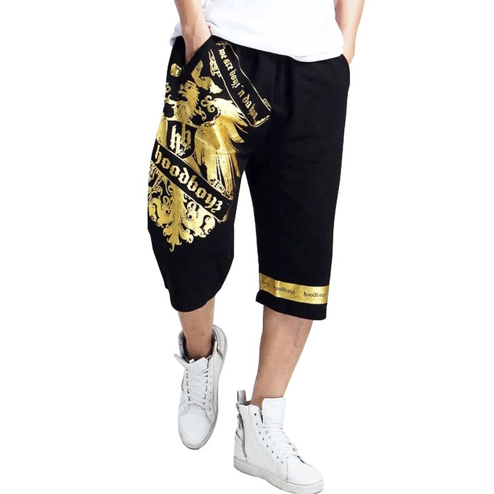 2019 Hip Hop Men Male Brand Joggers Clothing Exercise Men Shorts Summer Baggy Loose Calf Trousers Plus Size XXXXL 5XL 6XL A30