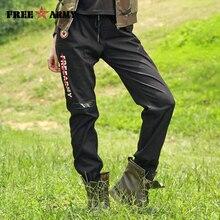 Осень 2017 г. штаны-шаровары леггинсы черные хлопковые штаны с эластичной резинкой на талии женские брюки Print Jogger Брендовые брюки для женщин Gk-9629D