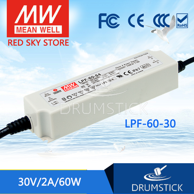 hot-selling MEAN WELL LPF-60-30 30V 2A meanwell LPF-60 30V 60W Single Output LED Switching Power Supply mean well original lpf 40 30 30v 1 34a meanwell lpf 40 30v 40 2w single output led switching power supply
