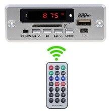 USB 3,5 мм AUX Bluetooth FM радио V5.0 беспроводной приемник MP3-плеер 5 в 12 В MP3 декодер плата модуль 1 Din музыкальный динамик автомобильный комплект