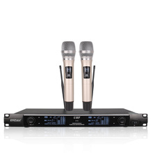 Бесплатная доставка Беспроводной микрофон Системы x-2600 профессиональный микрофон 2 канала, динамический профессиональный 2 ручной микрофон