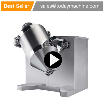 Stainless steel food powder mixer, drum shaped spice mixer