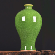 ceramics antique jade kiln crackle glaze vase of modern living room decoration decoration Home Furnishing borneol