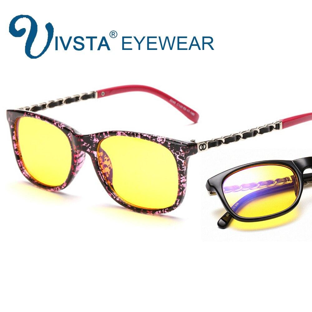 736be4976a (HOT DISCOUNT) IVSTA Anti Rayos Azules Gafas De Ordenador Mujeres Anti  Radiación Gaming Lentes Amarillos Gafas Marca Oro Cadena Marco Ojos  Protección ...
