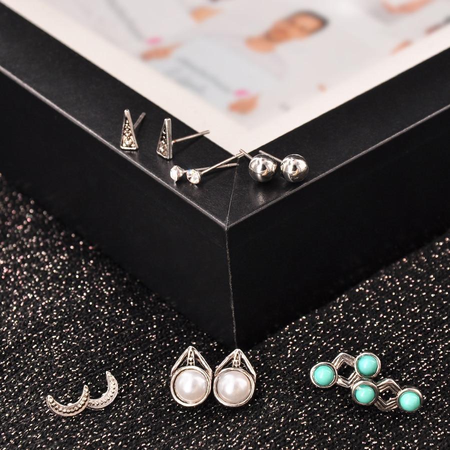 MQ Fashion Earring Sets 6 piezas / conjunto aleación redondo - Bisutería - foto 1