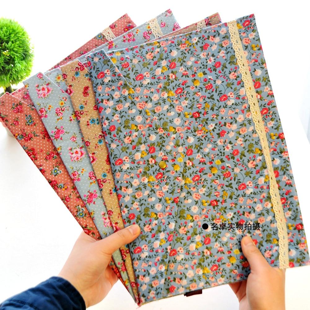 1 Pcs A4 Cotton Fabric Paper Holder Portafolio School Folder Bag Korean Stationery Office Supplies stylish 100 pcs bag docile pure cotton compressed mask paper