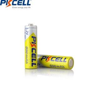 Image 3 - 4PCS PKCELL AA battery 600mah 1.2v NIMH AA rechargeable batteries aa batteria recharge and 1pcs AA battery box for Camera toys