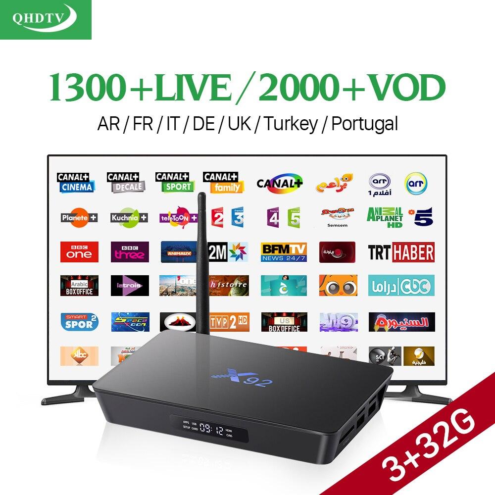X92 Android Smart TV Box 3g ram 32g Receptores de TELEVISIÓN H.265 Reproductor m