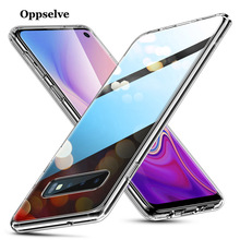 Oppselve Silicone Phone Case For Samsung Galaxy S10 S10e Plus Ultra Thin Clear Soft TPU Cover E Coque