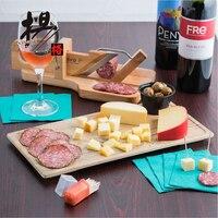 YANGGE Hot Selling 2pcs Set Wood Plastic Plates Brand 14 Inch Melamine Restaurant Steak Sushi Plate