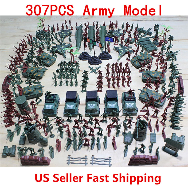 307pcs/set Soldier Model Toy Soldier Military Model Aircraft Tanks Scene Grenade Tank Aircraft Rocket Army Men Toy Figures set plastic toy small soldier boy sand table model toy full 300pcs set soldier military bases set classic toys free shipping