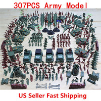 307pcs/set Soldier Model Toy Soldier Military Model Aircraft Tanks Scene Grenade Tank Aircraft Rocket Army Men Toy Figures