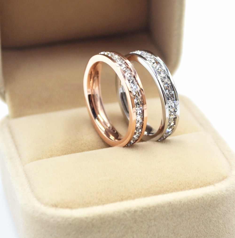 High quali เรขาคณิตหญิงแหวนเงินแท้ & Rose Gold สัญญาหมั้นแหวนผู้หญิงที่ดีที่สุดของขวัญ