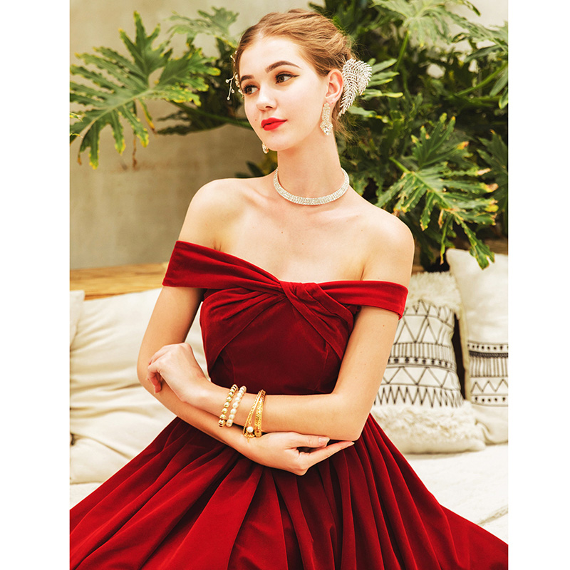 Prom Dress Burgundy Sexy Backless Long Plus Size 2019 Slim Boat Neck Vestidos De Gala Sleeveless Dresses Women Party Night E584 in Prom Dresses from Weddings Events
