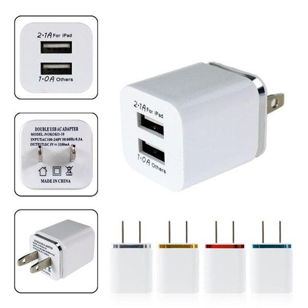 Hohe qualität 2,1/1a 5 v dual usb us ladegerät ac travel adapter...