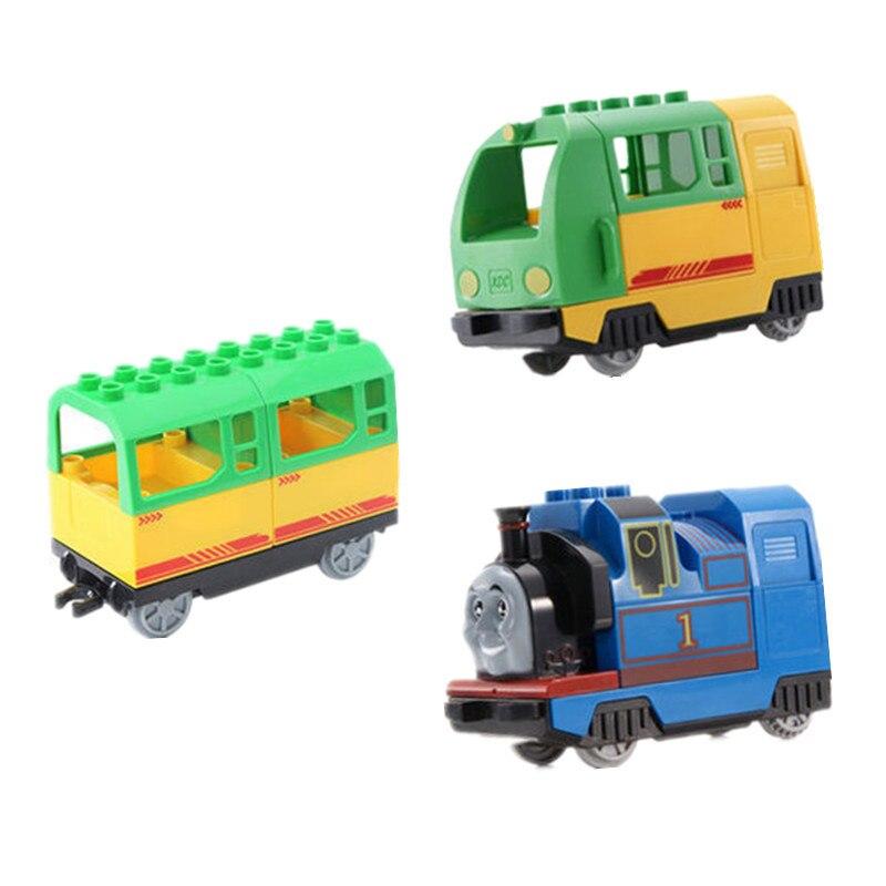 Diy Blocos de Construção de Trem Tamanho Grande Faixa Ferroviária Acessório Ponte Viaduto duploed Peças Infantis Brinquedos Para Crianças Tijolos Duploed