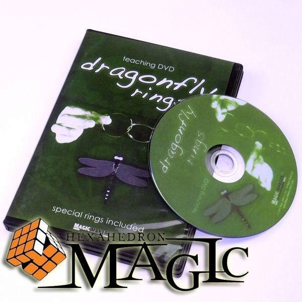 Dragonfly Rings Mini Linking Ring  /close-up CARD magic trick / wholesale close-up