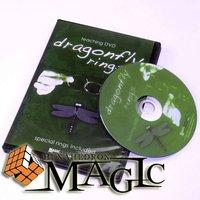Anéis de libélula Mini Linking Ring/close-up CARTÃO mágico truque/atacado