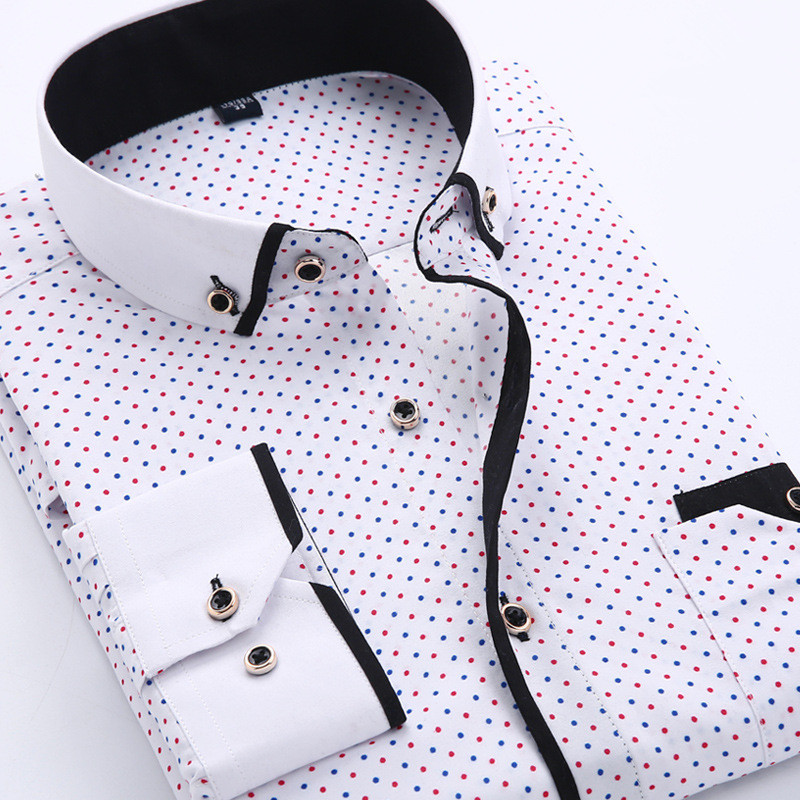 Casual long sleeved shirt Slim Fit 8