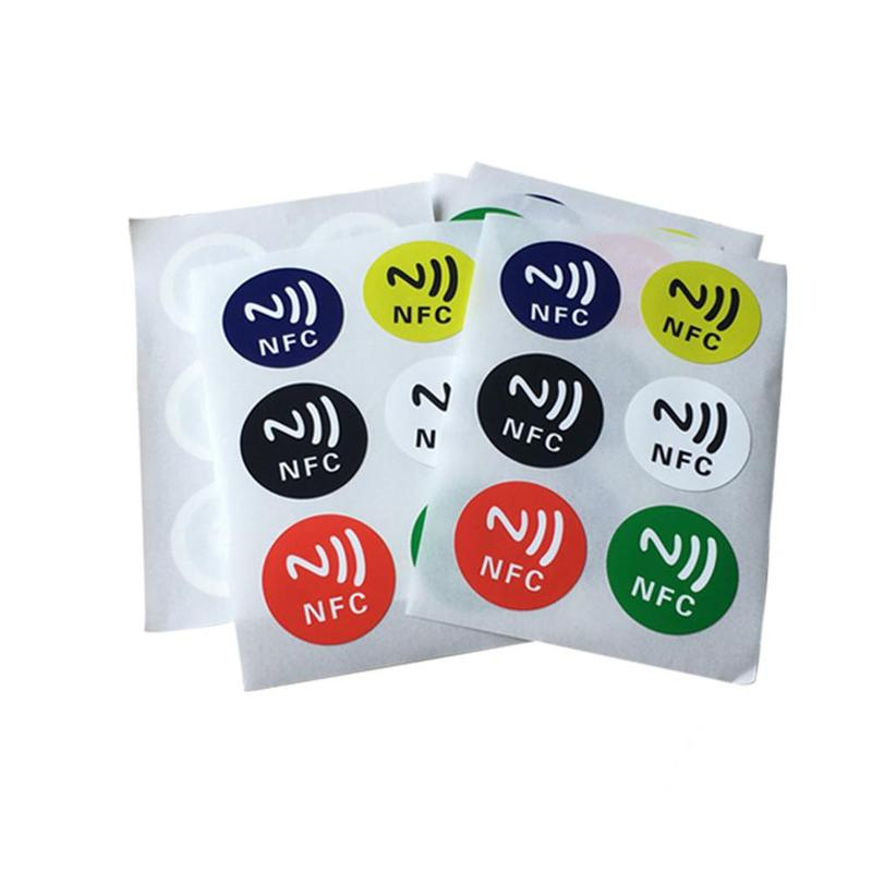 6 Pcs/set Universal Lable Ntag Compatible Nfc Phone Nfc Tags Stickers Ntag213 13.56 Mhz Nfc Sticker Rfid Adhesive Label Sticker