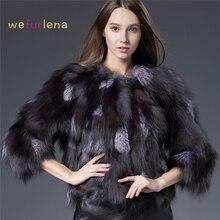 Real Fox Fur coat Jacket women Real Fox Fur Outwear for women Real Noble fashion luxury genuine Fur jacket coat women QS-87