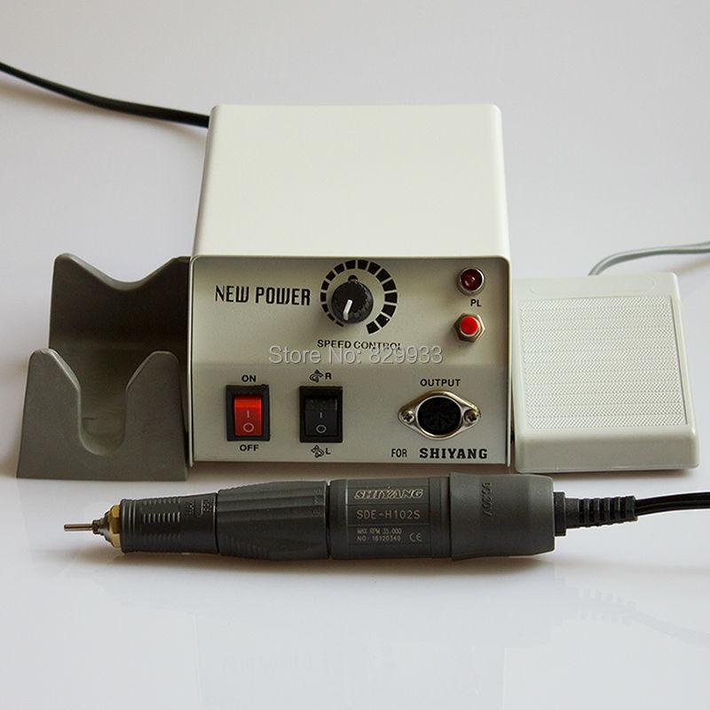 Professionell Höghastighets Ny Makt 35K RPM H102S Mikromotorisk Nail - Nagel konst