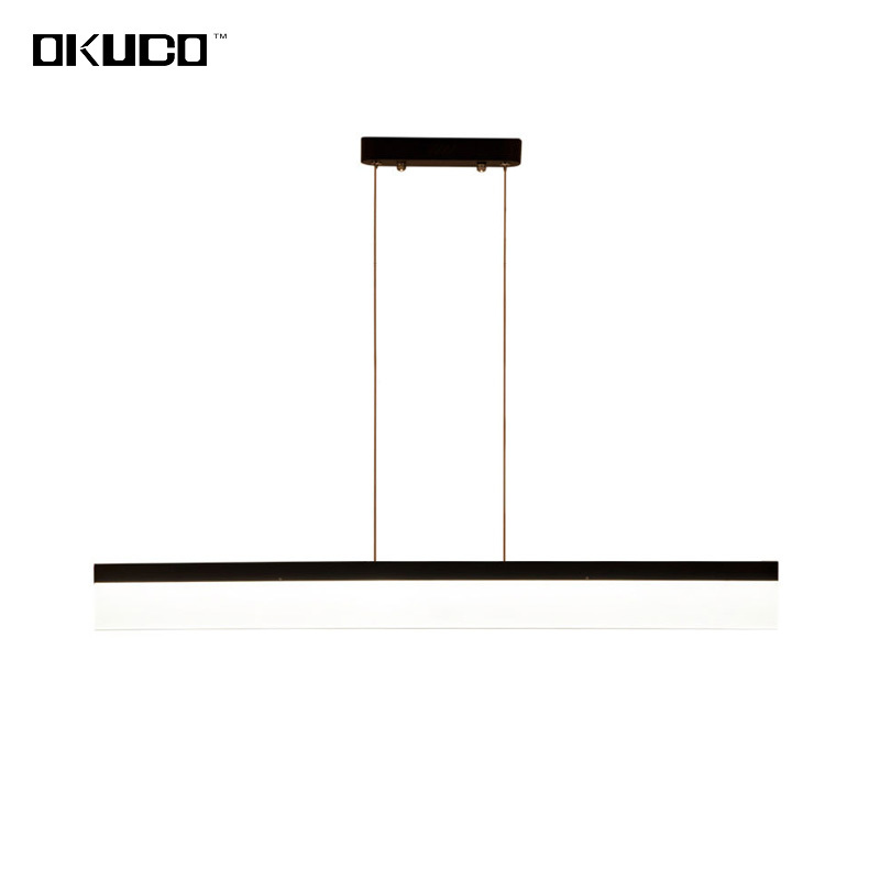 Modern Restaurant Pendant Lights Fixtures For Living Dining Room Kitchen Straight Hanging Lamp Decorative Coffee Indoor Lustre dining room led pendant lights suspendus lustre bar coffee modern led pendant indoor lighting for kitchen restaurants room lamp