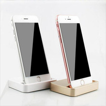 Desktop Dock Charger to 8 pin Docking Station Cradle Stand Charging Data Sync Adapter For iPhone