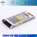High quality 200w 5v 40A for outdoor and indoor led display  Ultra-thin 5V 40A 200W Switching Power Supply