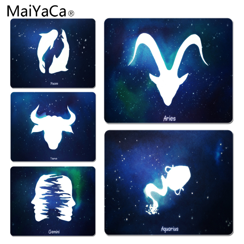 MaiYaCa Twelve Constellations Large Mouse pad PC Computer mat Size for 18x22x0.2cm Gaming Mousepads