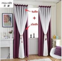 Velvet Linen Window Curtain For Bedroom Living Room Solid Color Bedroom Curtains