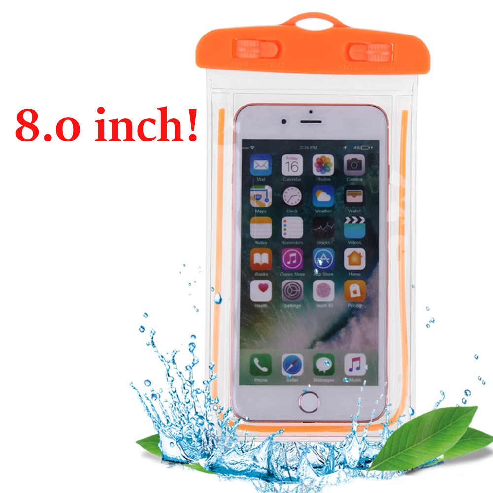 Swimming Bags Waterproof Bag with Luminous Underwater Pouch Phone Case for Iphone 6 6s 7 Universal All Models 3.5 Inch -8 Inch