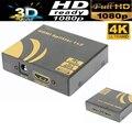 4 К HDMI Splitter 1X2 HDMI усилитель повторитель с блоком питания 4 К X 2 К/30 Гц, 3D, 1080 P поддерживается