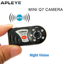 Mini Wifi Q7 Camera 640P Wifi DV DVR Wireless IP Cam Brand New Mini Video Camcorder Recorder Infrared Night Vision Small Camera hd93e3 hd 720p wifi camera mini dv wireless ip camera wifi camcorder video record wifi remote by phone mini camera w ir led