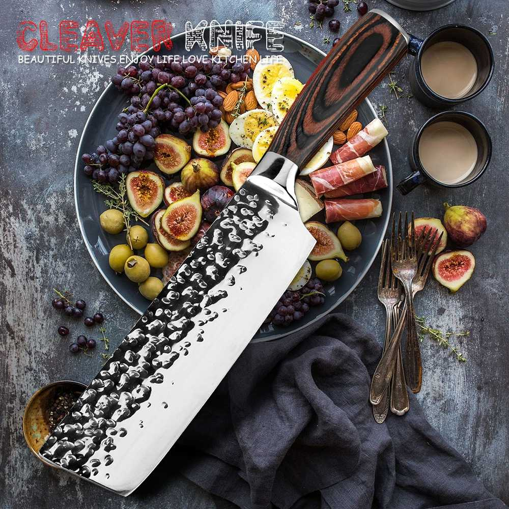 XITUO Kitchen 7 inch Chef's Knife High Carbon Stainless Steel Sharp Cleaver Slicing Japan Santoku Knives  Ergonomic Equipment