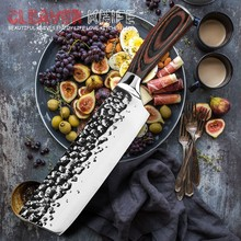 XITUO Kitchen 7 inch Chef's Knife High Carbon Stainless Steel Sharp Cleaver Slicing Japan Santoku Knives Ergonomic Equipment(China)