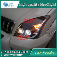 Car Styling Head Lamp case for Toyota Prado FJ120 Headlights LED Headlight DRL Lens Double Beam Bi Xenon HID Accessories