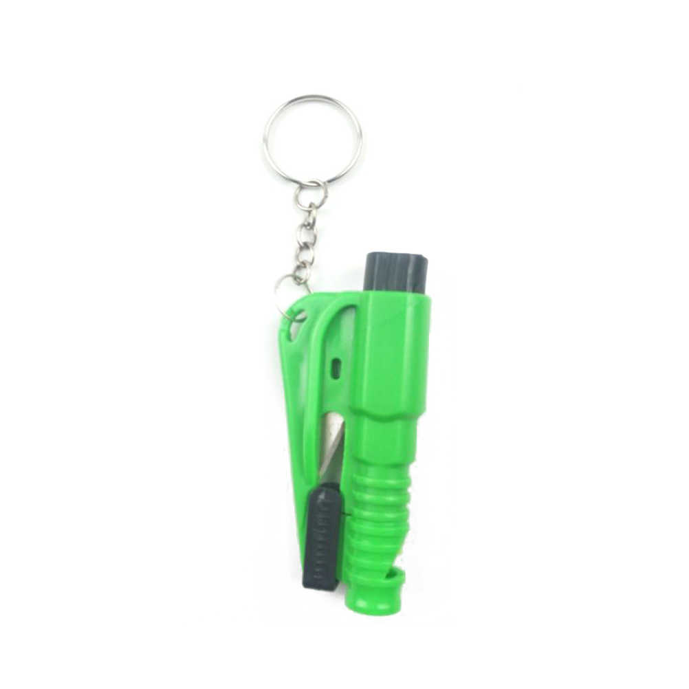 3 in 1 Mini Emergency Safety Hammer Window Glass Breaker Seat Belt Seatbelt Cutter Whistle Rescue Escape Tool