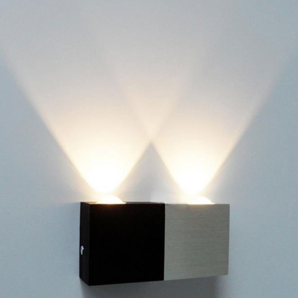 Wall Lights For Halls : AC100 240V 2W High Power 2 LED Wall Light Lamp Sconce for Hall Room Modern kitchen background ...