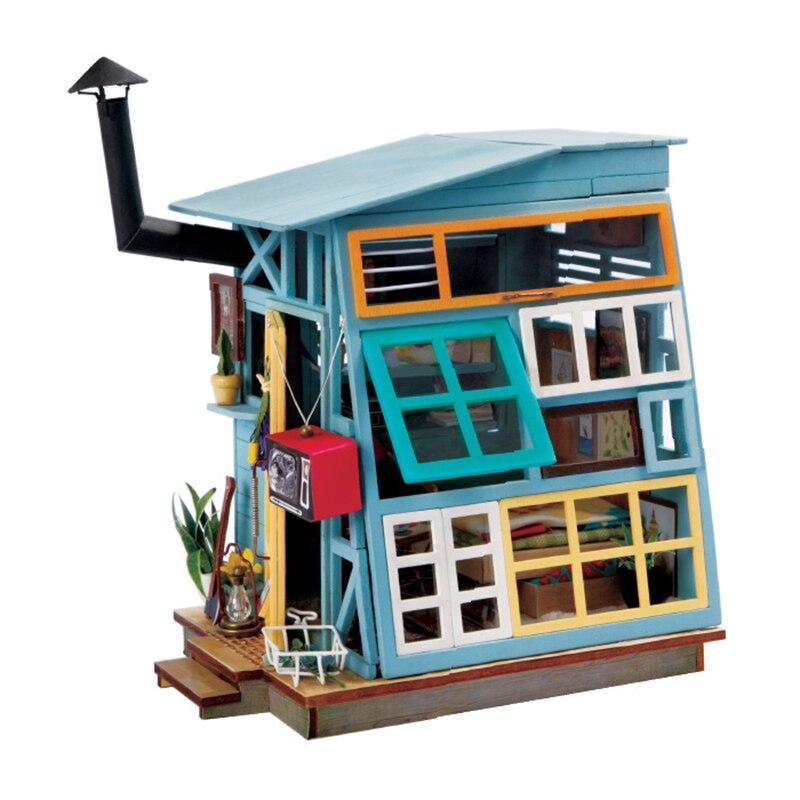 Amazing CUTEBEE DIY Puppenhaus Holz Puppe Häuser Miniatur Puppenhaus Möbel Kit  Spielzeug Für Kinder Weihnachtsgeschenk DGM03