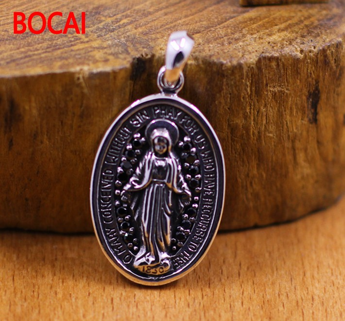 [character] S925 silver silver wholesale virgin female models pendant magnificent reliefs s925 pure silver personality female models new beeswax