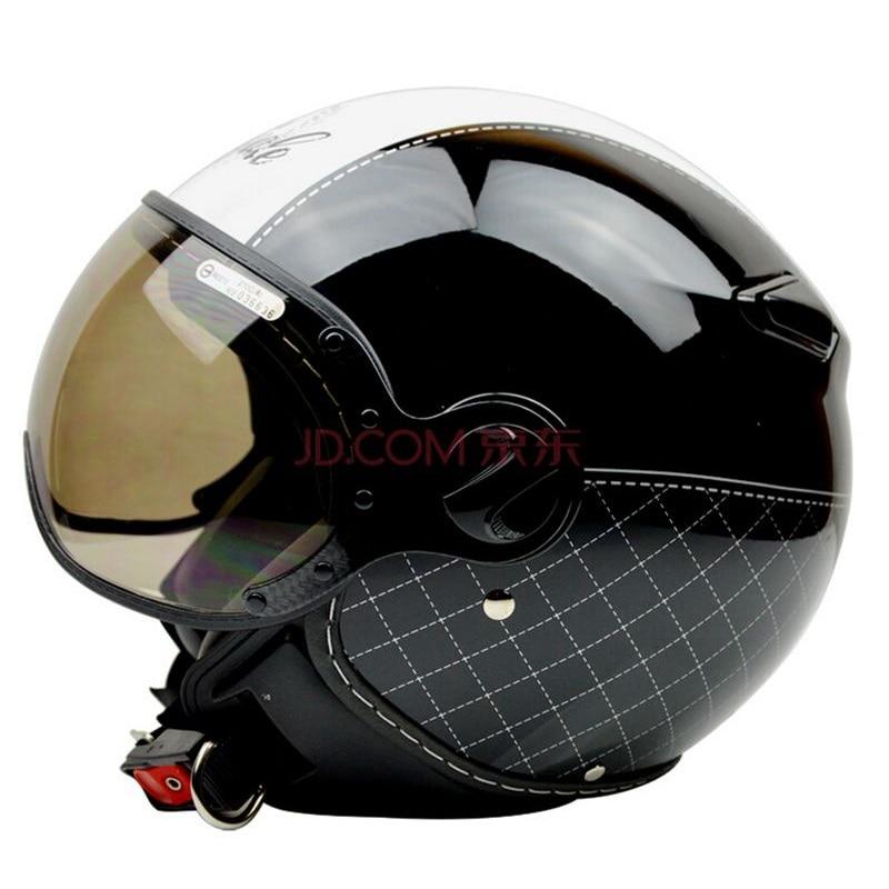 цена на ZEUS Brand 210C Motorcycle helmet Motorbike open face helmet, Motocross Jet vintage retro helmet, sunglass visor, Casco Capacete