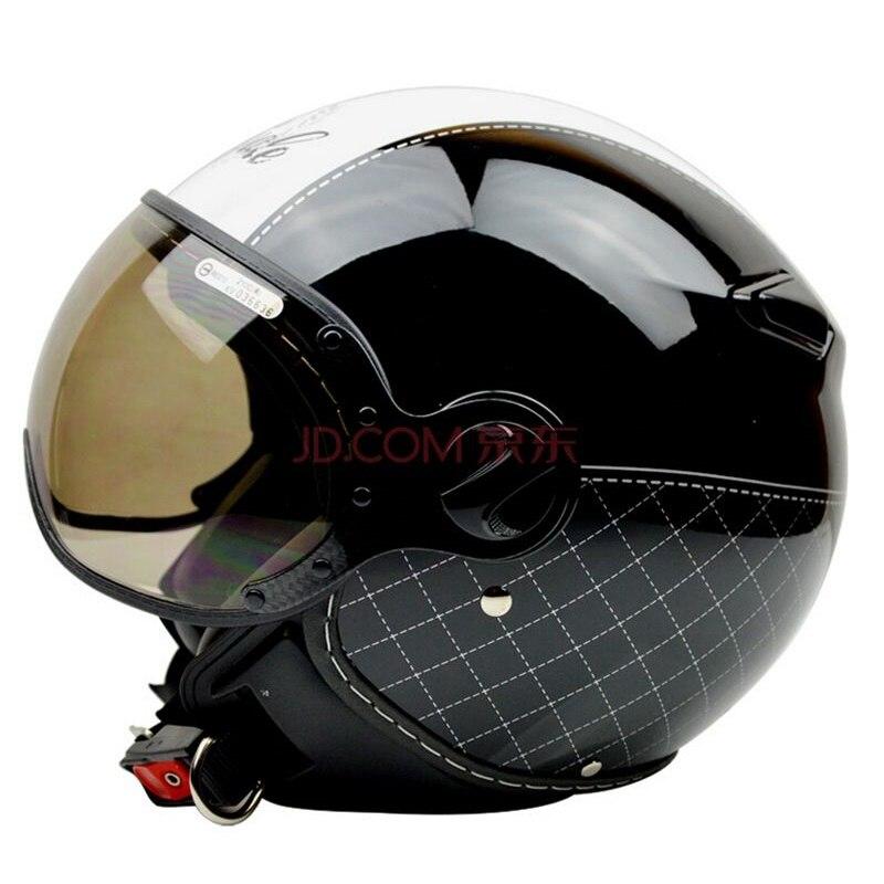 ZEUS Brand 210C Motorcycle helmet Motorbike open face helmet, Motocross Jet vintage retro helmet, sunglass visor, Casco Capacete цена