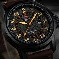 NAVIFORCE Mens Relógios Top Marca de Luxo Relógio de Quartzo Homens Esporte Militar Relógios Homens De Couro À Prova D' Água relogio masculino 2016