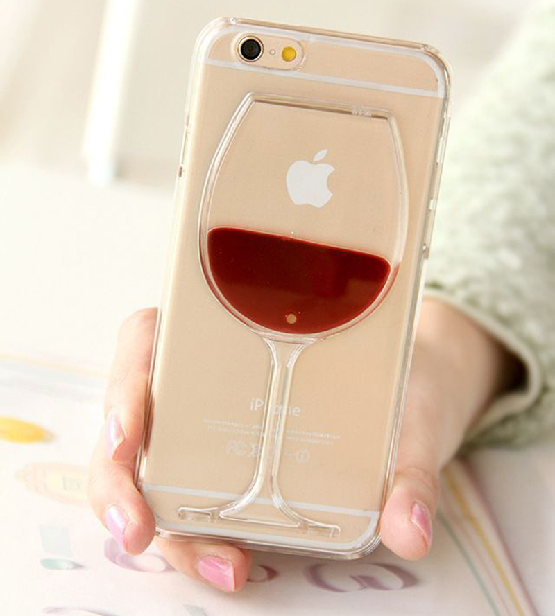 Fashion 3D Liquid Cocktail Bottle Flow Red Wine Fundas Coque For iPhone 5 5S SE 6 6S 7 Plus case phone cases Cover Capa