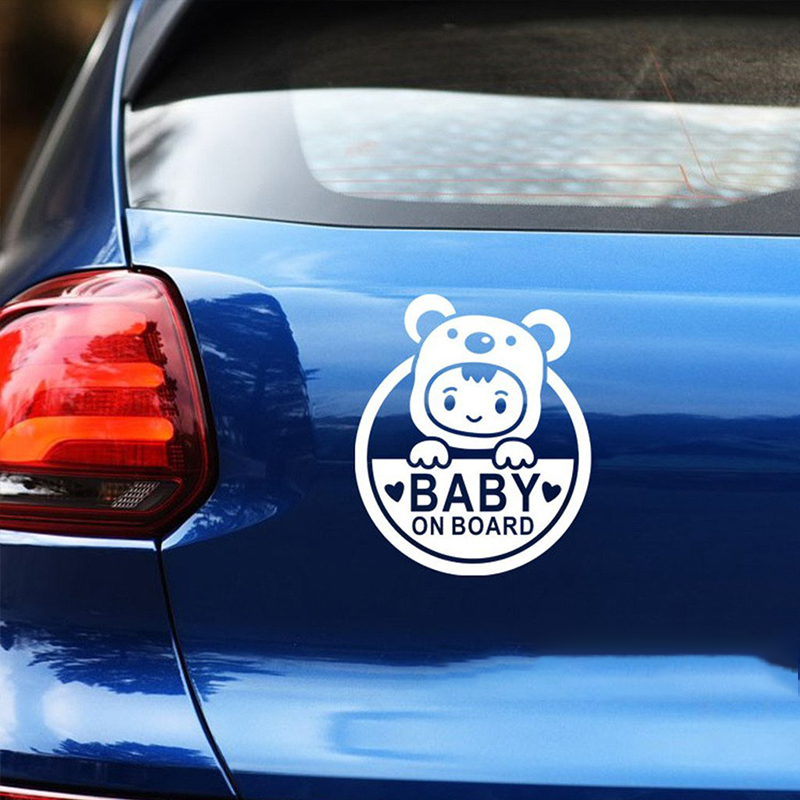 Baby On Board Cute And Interesting Fashion Car Sticker Decals Art Painting Car Stickers Vinyl Decor Decals in Car Stickers from Automobiles Motorcycles