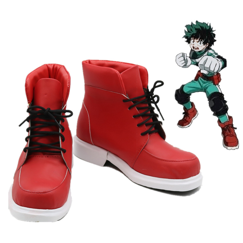 Boku No Hero Academia Shoes Izuku Midoriya Cosplay Costume Shoes My Hero Academia Red Boots