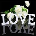 SIBAOLU Decoração de Casa Decoração de Aniversário de Casamento de Madeira Letras Do Alfabeto De Madeira Branca de espessura 8 cm X 1.2 cm