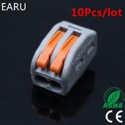 (10 шт./лот) WAGO 222-412 PCT-212 PCT212 Универсальный Компактный провод подключения Разъем 2 контактный Дирижер клеммный блок рычаг 0,08-2.5mm2