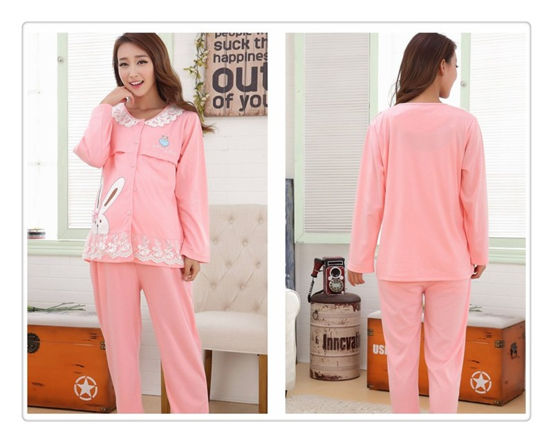 Bearsland Cotton Maternity Nursing Pajama (4)